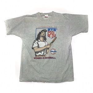 ⚾️ VTG Single Stitch Womens Baseball T Shirt